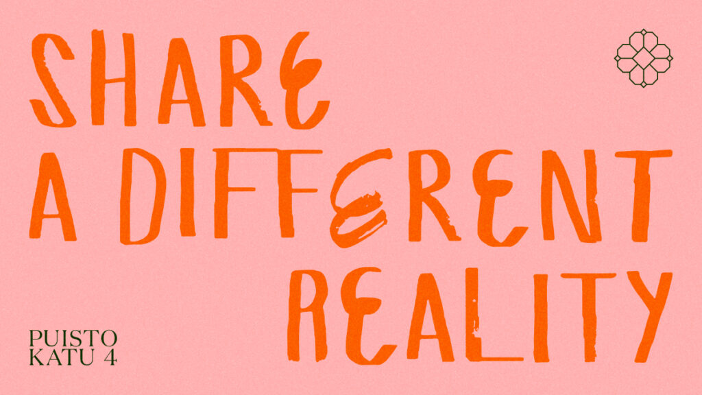 """an image with the words """"share a different reality"""""""